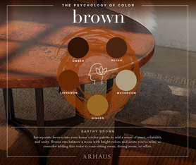 painting with brown
