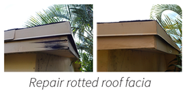 Fascia wood repair